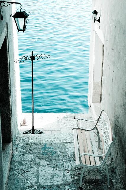 Seaside Bench, Rovinj, Croatia